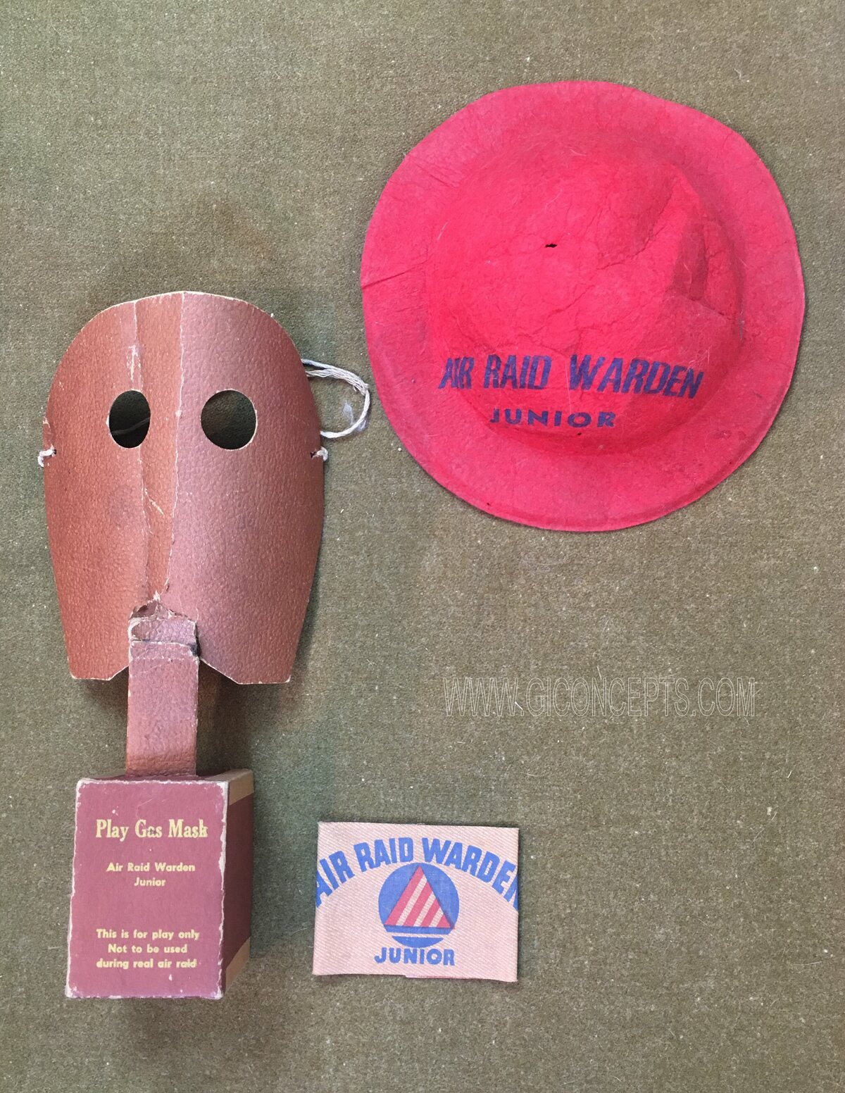 Junior Air Raid Warden Playset