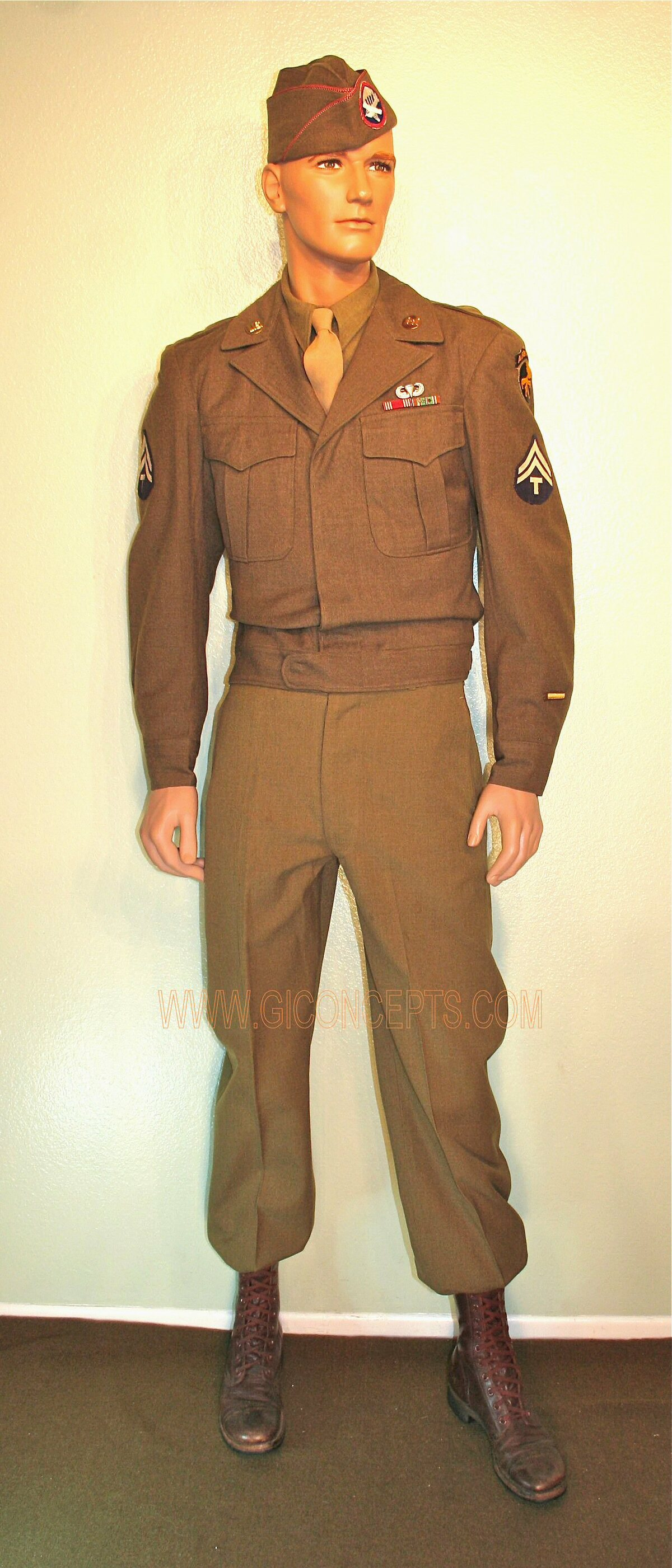 139th Airborne Engineer Battalion 17th Airborne Division Class A uniform 1945