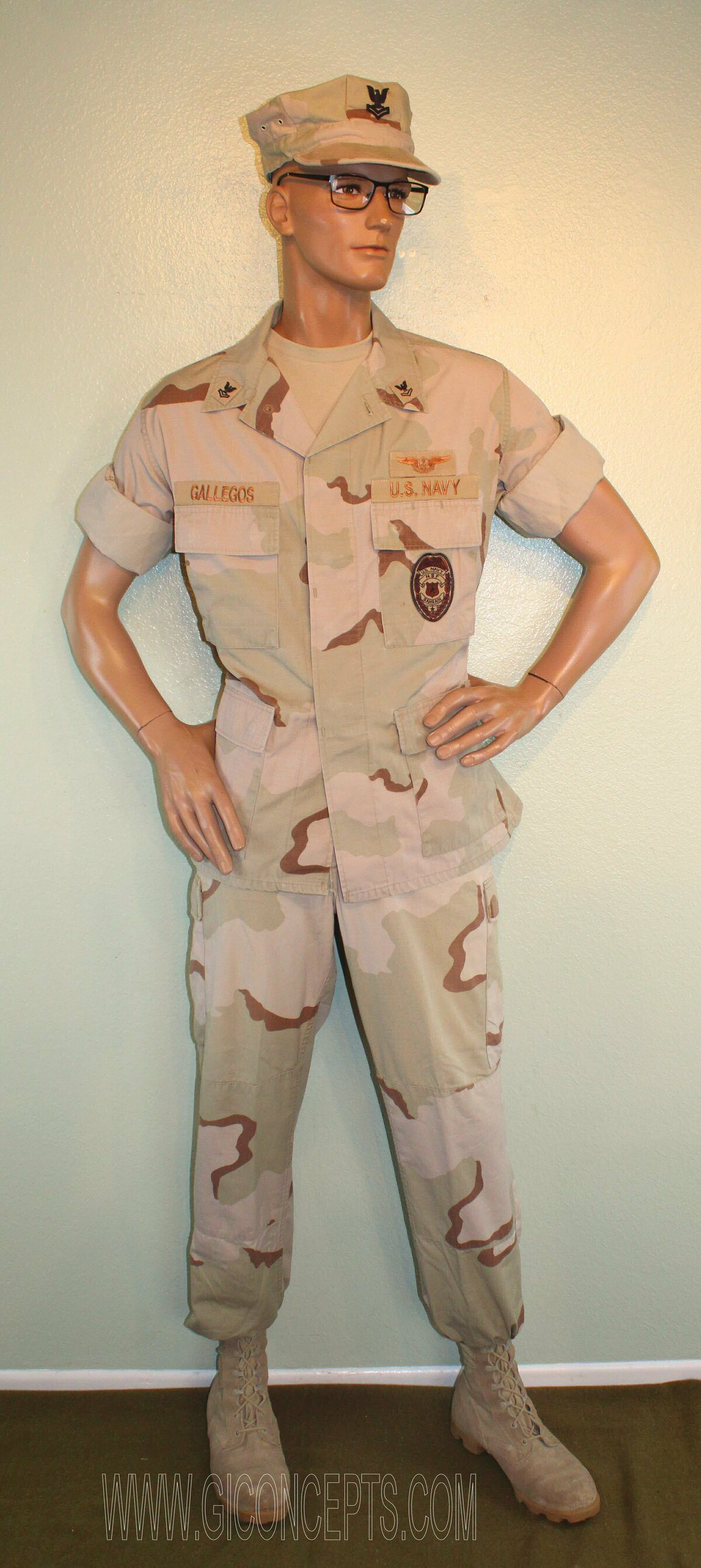 US Navy Air Warfare Specialist Navy Security Forces Bahrain 2003