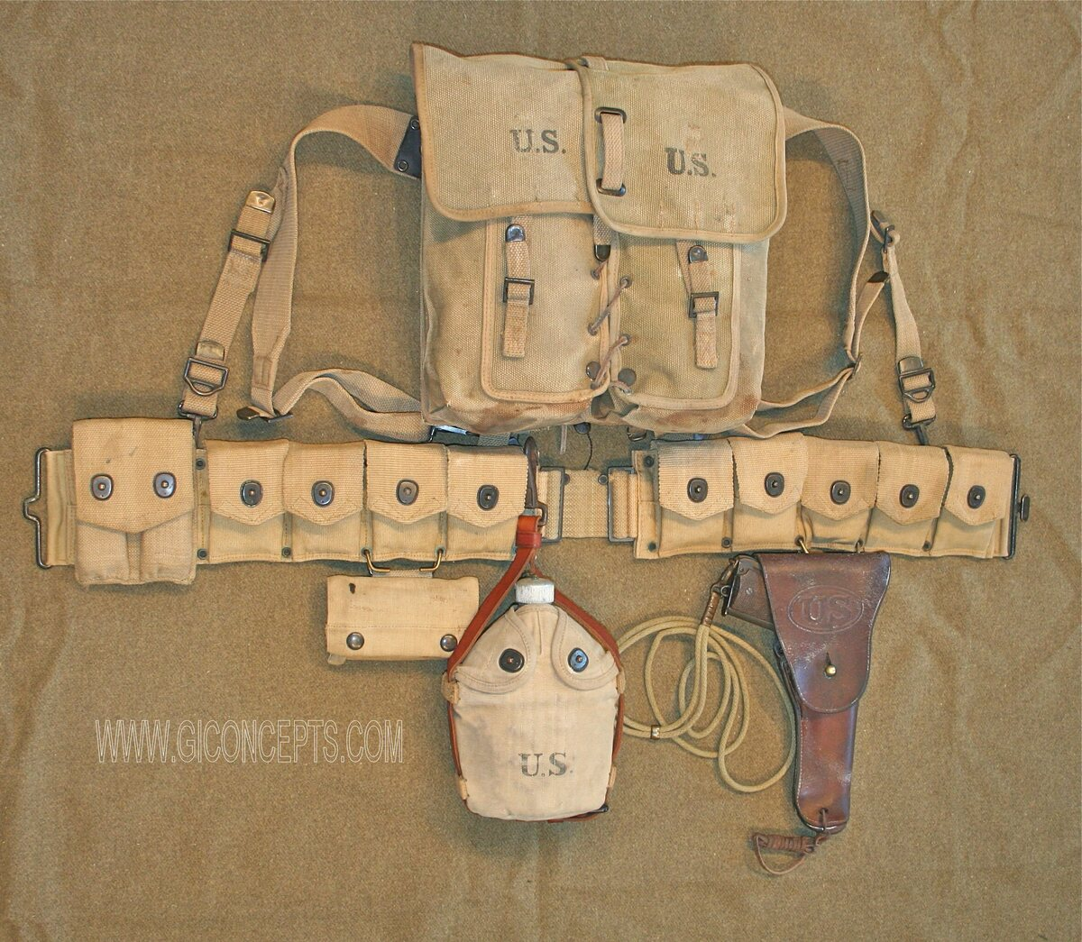 1918 US Army Dismounted Cavalry Equipment