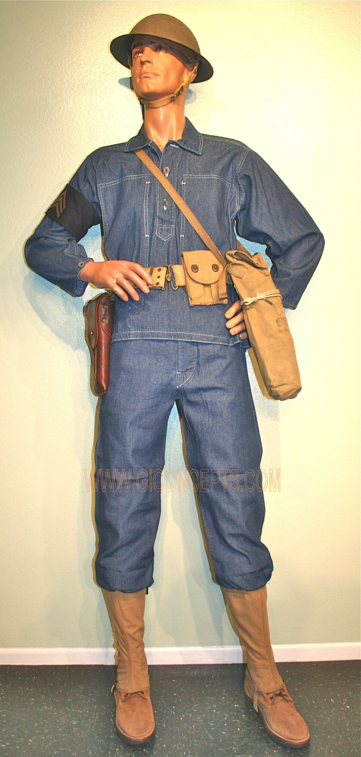 1940 Blue Denim Coast Artillery Uniform